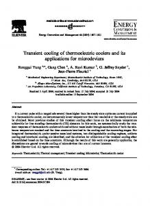 Transient cooling of thermoelectric coolers and its