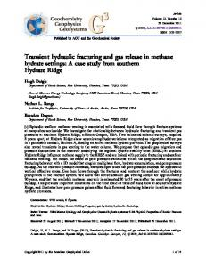 Transient hydraulic fracturing and gas release in ... - Wiley Online Library