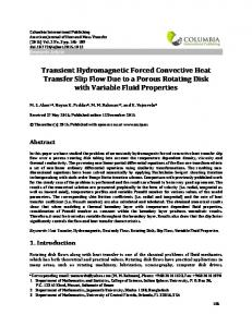 Transient Hydromagnetic Forced Convective Heat Transfer ... - Doi.org