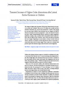 Transient Increase of Higher-Order Aberrations after Lateral Rectus ...