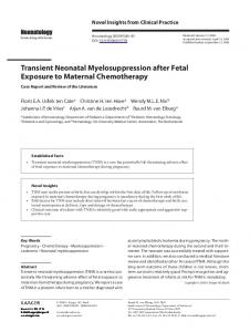 Transient Neonatal Myelosuppression after Fetal ...