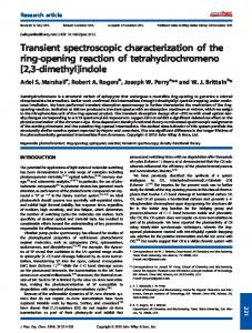 Transient spectroscopic characterization of the ring ...