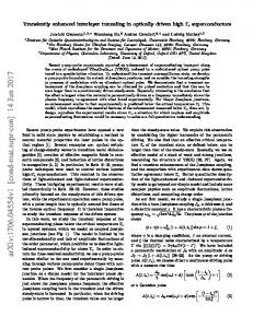 Transiently enhanced interlayer tunneling in optically driven high ...