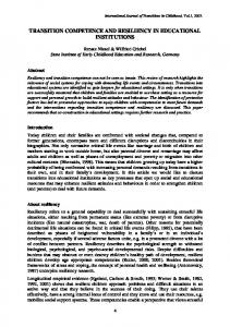 transition competence and resiliency in educational institutions