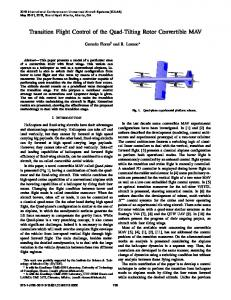 Transition Flight Control of the Quad-Tilting Rotor ... - IEEE Xplore