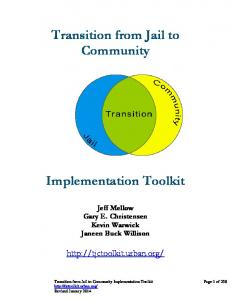 Transition from Jail to Community Implementation ...