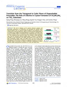 Transition from the Tetragonal to Cubic Phase of ... - ACS Publications