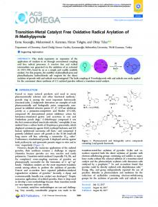 Transition-Metal Catalyst Free Oxidative Radical ... - ACS Publications