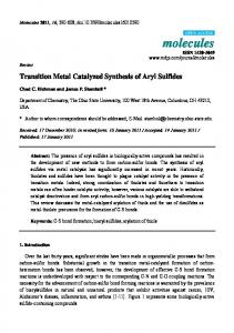 Transition Metal Catalyzed Synthesis of Aryl Sulfides