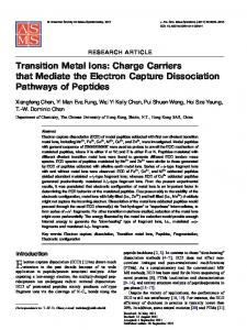 Transition Metal Ions: Charge Carriers that Mediate the Electron ...