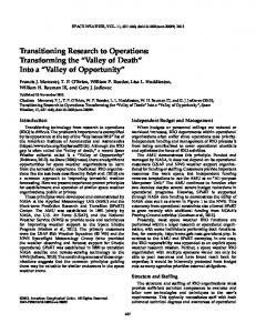 Transitioning Research to Operations - Wiley Online Library