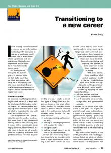 Transitioning to a new career - IEEE Xplore