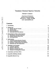 Translated Chemical Reaction Networks