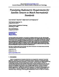 Translating Radiometric Requirements for Satellite ... - NIST Page