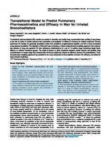 Translational Model to Predict Pulmonary ... - ASCPT - Wiley