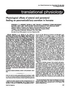 translational physiology - CiteSeerX