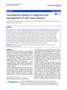 Translational research in diagnosis and management of soft tissue ...