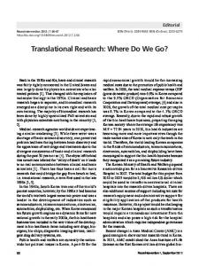 Translational Research: Where Do We Go? - KoreaMed Synapse