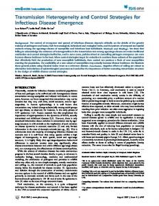 Transmission Heterogeneity and Control Strategies for Infectious ...