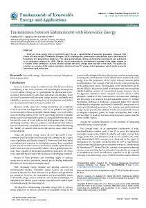 Transmission Network Enhancement with Renewable Energy