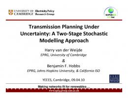 Transmission Planning Under Uncertainty: A Two ... - Semantic Scholar