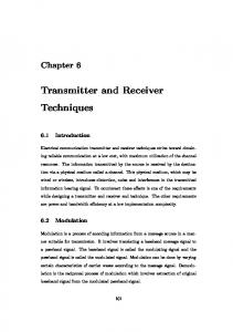 Transmitter and Receiver Techniques