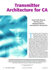 Transmitter Architecture for CA - IEEE Xplore