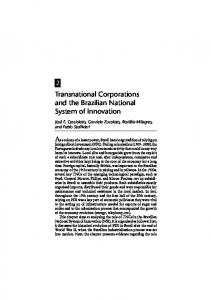 Transnational Corporations and the Brazilian National ...