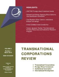 transnational corporations review