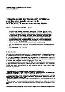 Transnational corporations' strategies and foreign trade ... - CiteSeerX