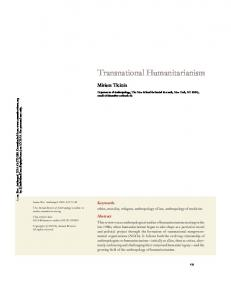 Transnational Humanitarianism - The New School Blog Network