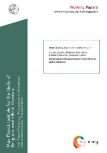 Transnational medical spaces - Max Planck Institute for the Study of ...