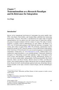 Transnationalism as a Research Paradigm and Its ... - Springer Link