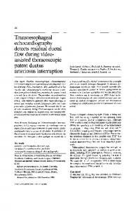 Transoesophageal echocardiography detects residual ... - Springer Link