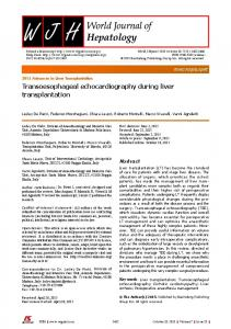 Transoesophageal echocardiography during liver