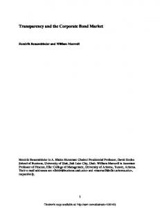 Transparency and the Corporate Bond Market