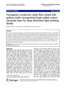 Transparent conductive oxide films mixed with gallium oxide