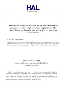 Transparent conductive oxides with photon converting