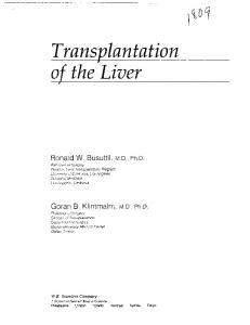 Transplantation of the Liver - Core