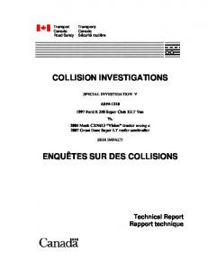 Transport Canada collision investigation