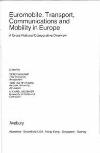 Transport, Communications and Mobility in Europe