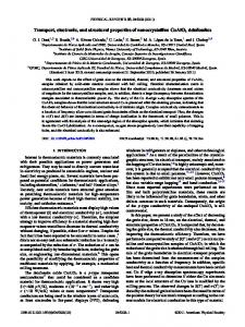 Transport, electronic, and structural properties of nanocrystalline ...