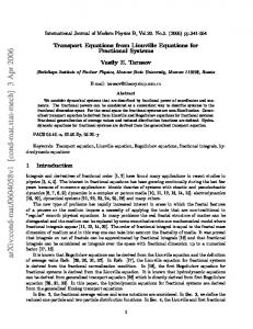 Transport Equations from Liouville Equations for Fractional Systems