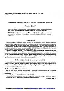 Transport inequalities and Concentration of measure - ESAIM ...