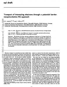 Transport of interacting electrons through a potential barrier