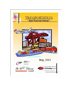 Transportation Best Practices Manual