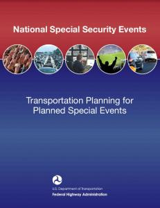 Transportation Planning for Planned Special Events