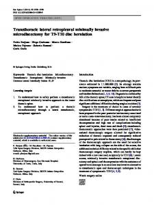Transthoracic lateral retropleural minimally invasive - Springer Link