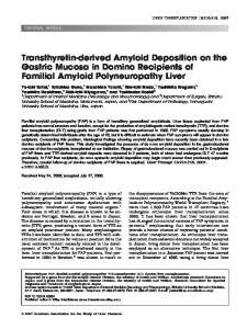 Transthyretin-derived amyloid deposition on the ... - Wiley Online Library