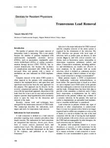Transvenous Lead Removal - Wiley Online Library